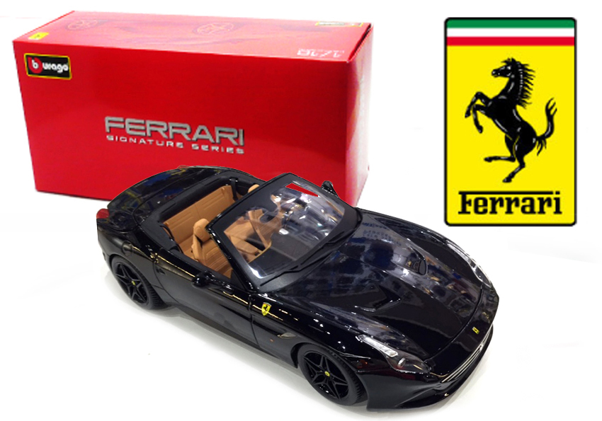 Ferrari California T Open Zwart Signature Series - 1:18