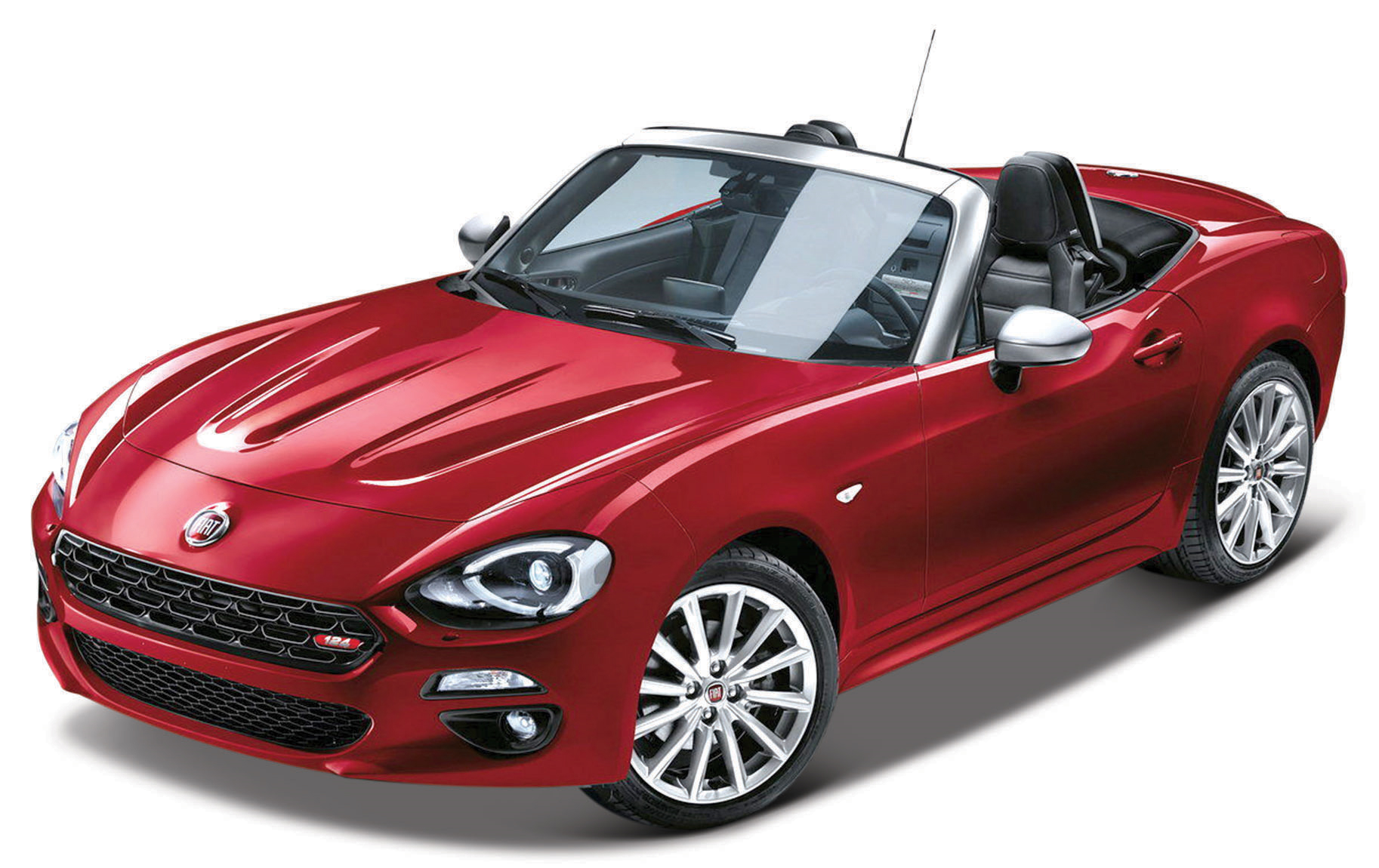 Fiat 124 Spider Rood