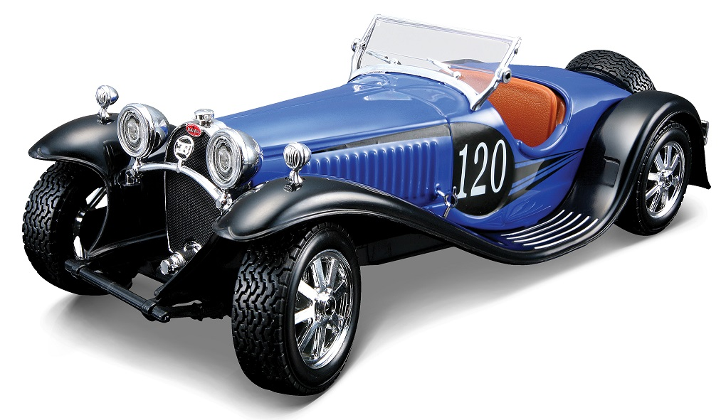Bugatti Type 55 No.120 1932 Blauw/Zwart Model Kit
