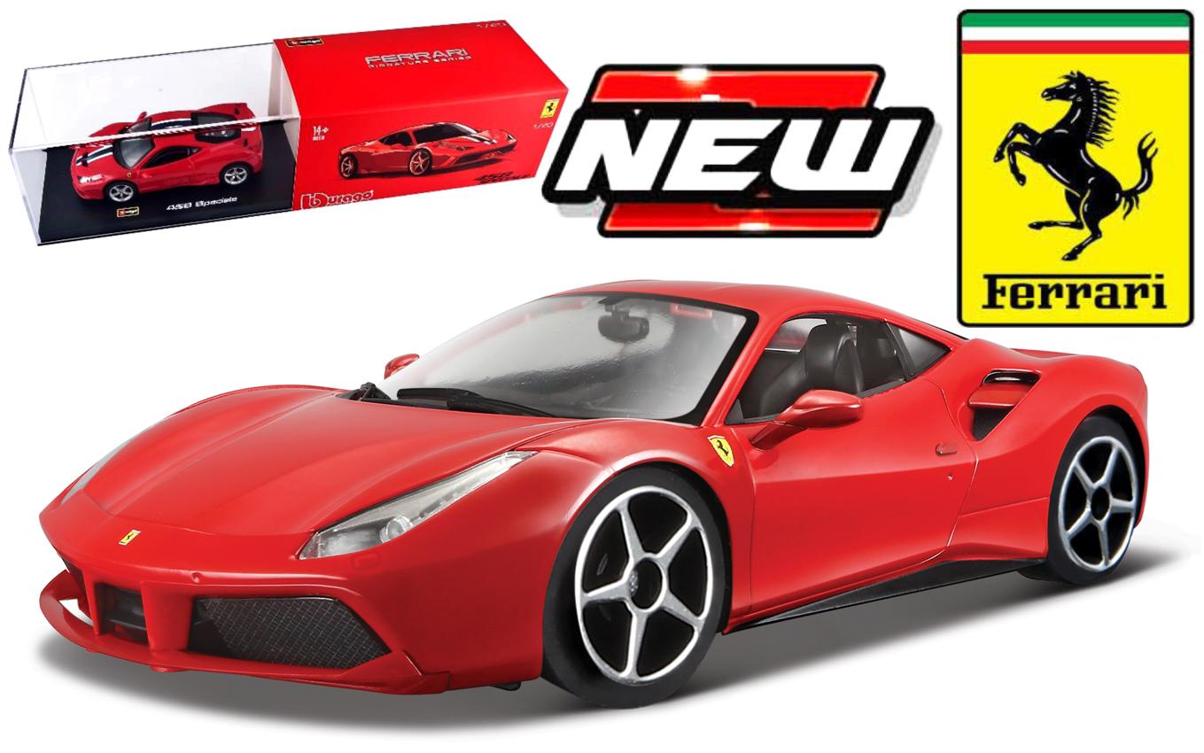 Ferrari 488 Spider 2016 Red Signature Series 1:43 Model BBURAGO
