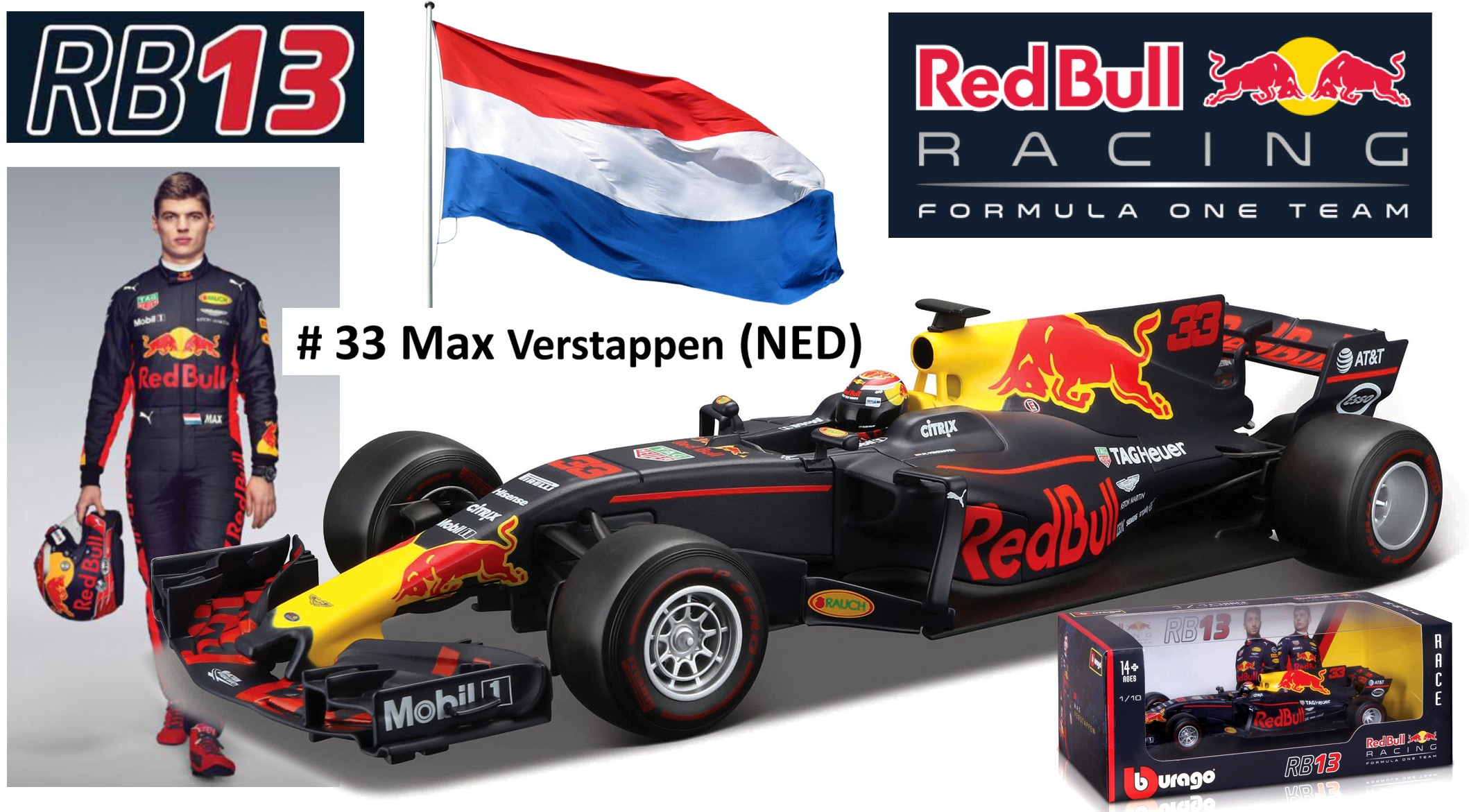 Red Bull Racing RB13 Renault No.33 M. Verstappen
