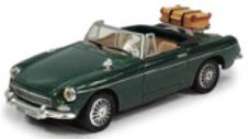 MG B Cabriolet Open Top Donkergroen