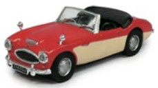 Austin Healey Cabriolet Open Top Rood/Creme