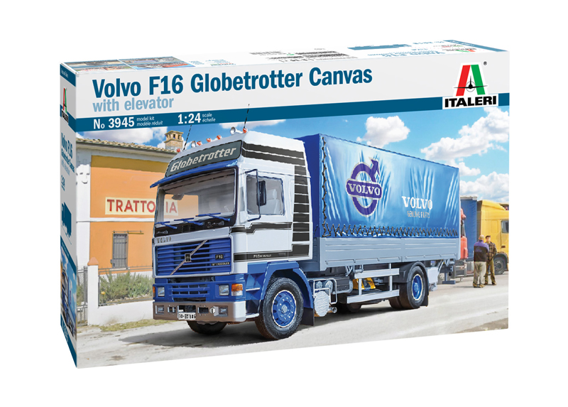 Volvo F16 Globetrotter Canvas with Elevator - 1:24