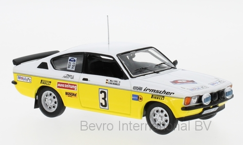 Opel Kadett C GT/E No.3 Irmscher Tuning Hunsruck Rally 1978 Warmbold/Pitz