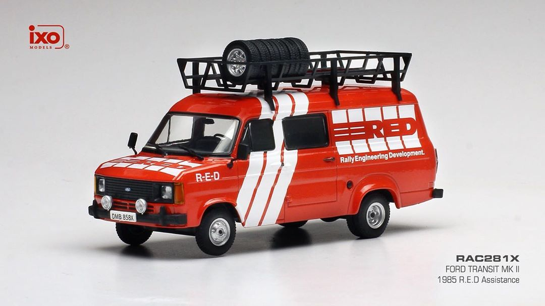 Ford Transit MKII Team 1985 - Rally Assistance R-E-D