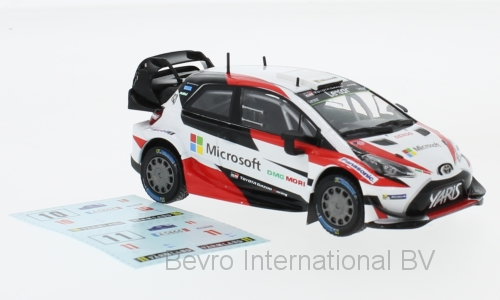 Toyota Yaris WRC Rally Sweden 2017 (decals number 10 and 11)
