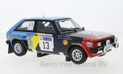 Talbot Sunbeam Lotus No.13 RAC Rally 1982 Frequelin/Fauchille