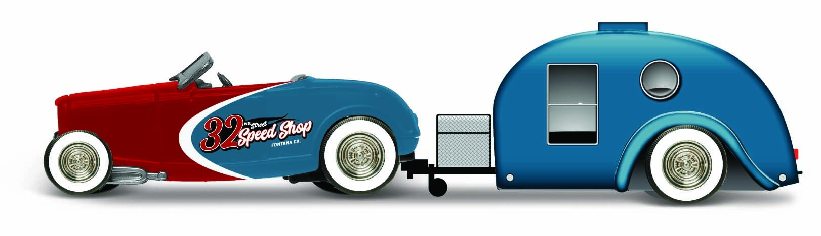 Ford Roadster 1932 + Traveller Trailer