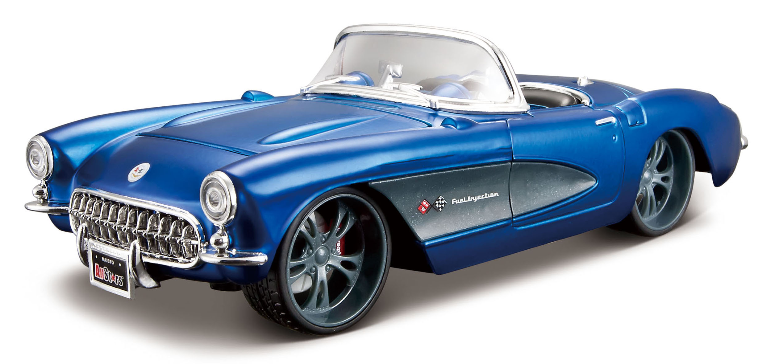 Chevrolet Corvette Convertible 1957 Blue/Grey