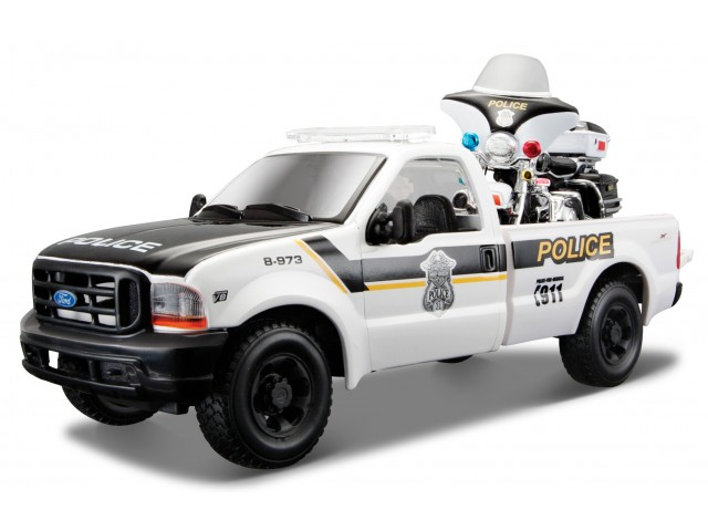 Ford F-350 Super Duty Pick Up 1999 Police met Motor - Harley Davidson