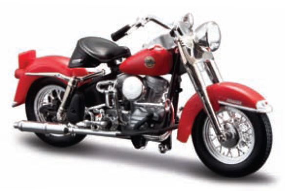 Harley-Davidson FLH Duo Glide 1958 Rood