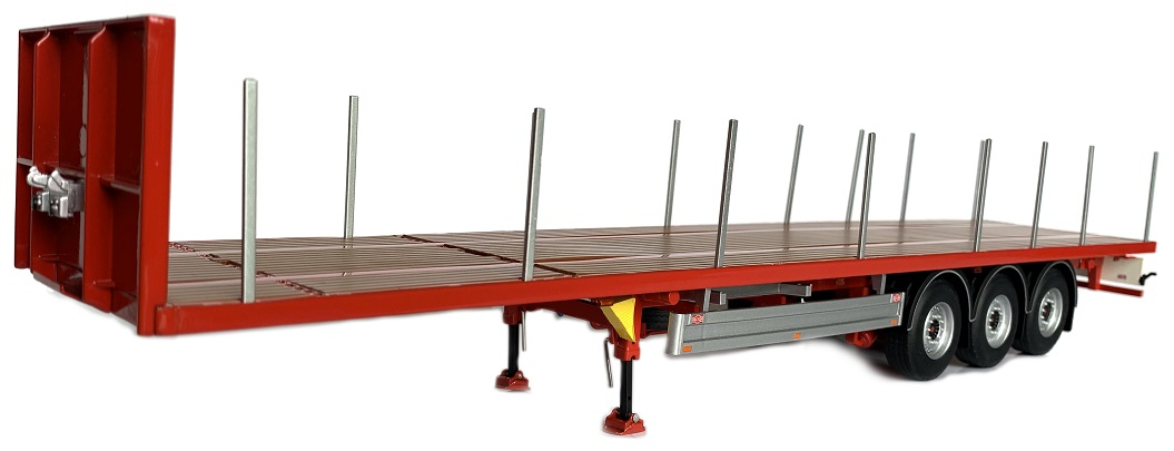 Pacton Flatbed trailer Rood