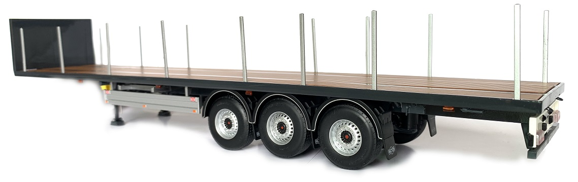 Pacton Flatbed trailer Antraciet
