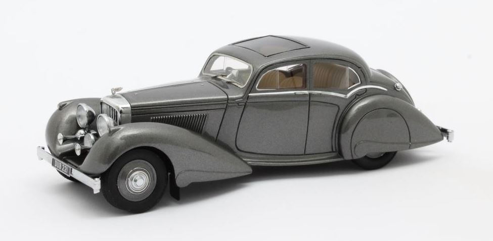 Bentley 4.25 Pillarless Saloon Carlton 1937 Grijs Metallic