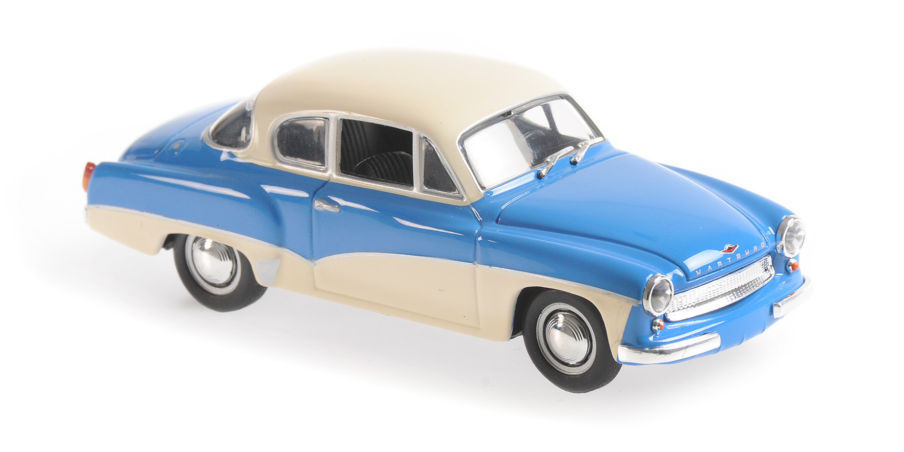 Wartburg A311 Coupe 1958 Blauw/Wit - 1:43