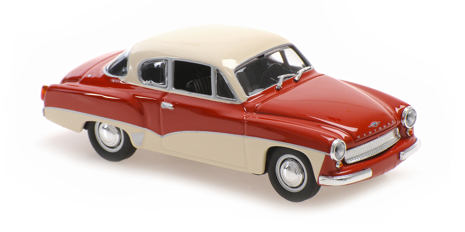 Wartburg A311 Coupe 1958 Rood/Wit - 1:43