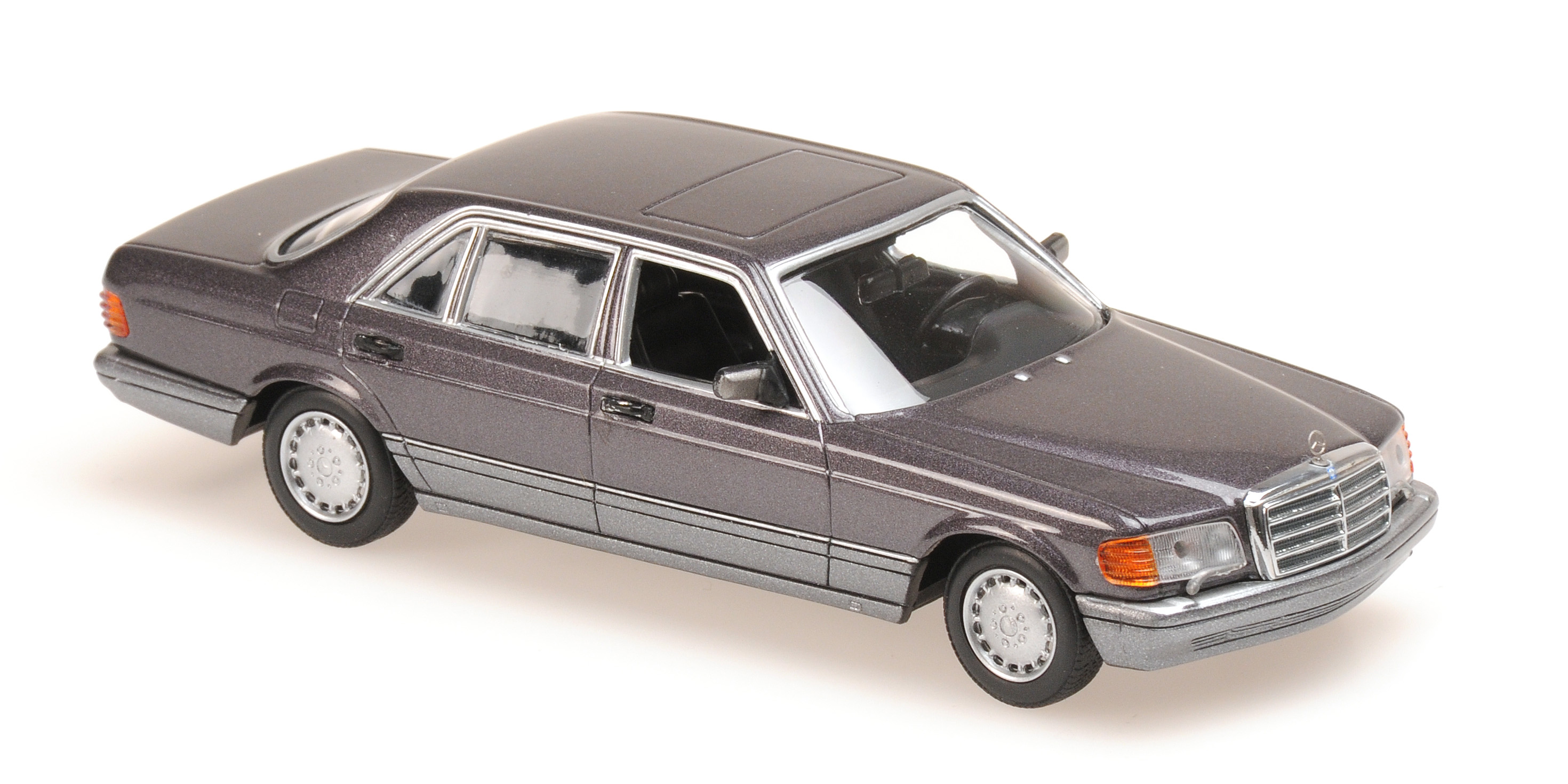 Mercedes-Benz 560 SEL 1990 Paars Metallic