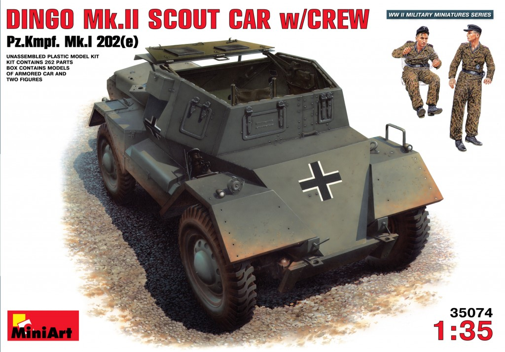 Dingo Mk.II Scout Car with Crew - 1:35