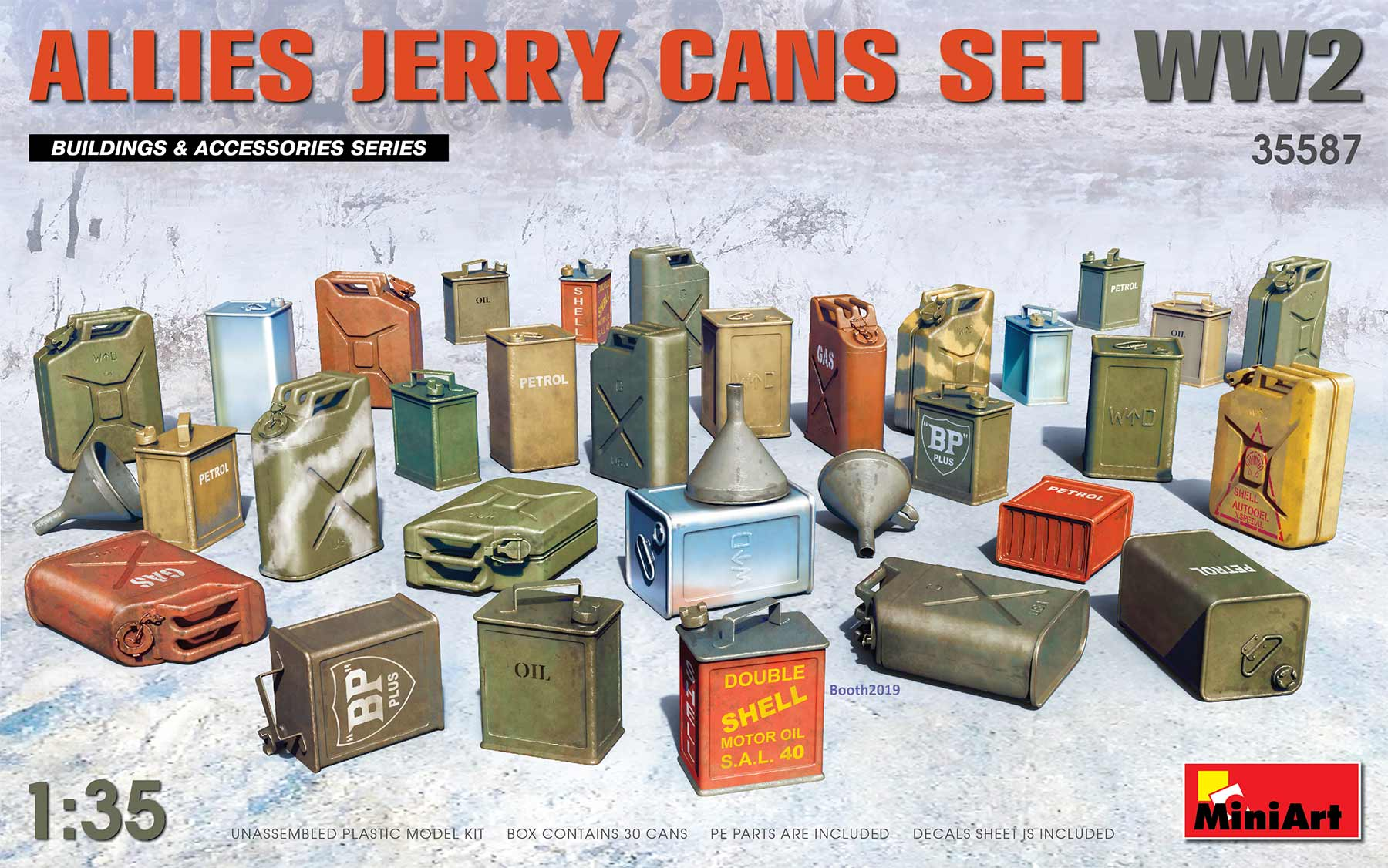 Allies Jerry Cans Set WWII - 1:35
