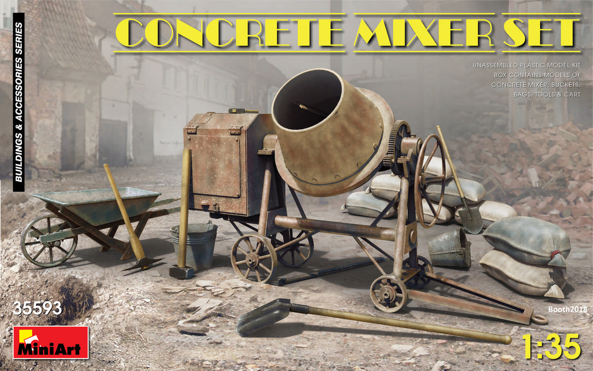 Concrete Mixer Set - 1:35