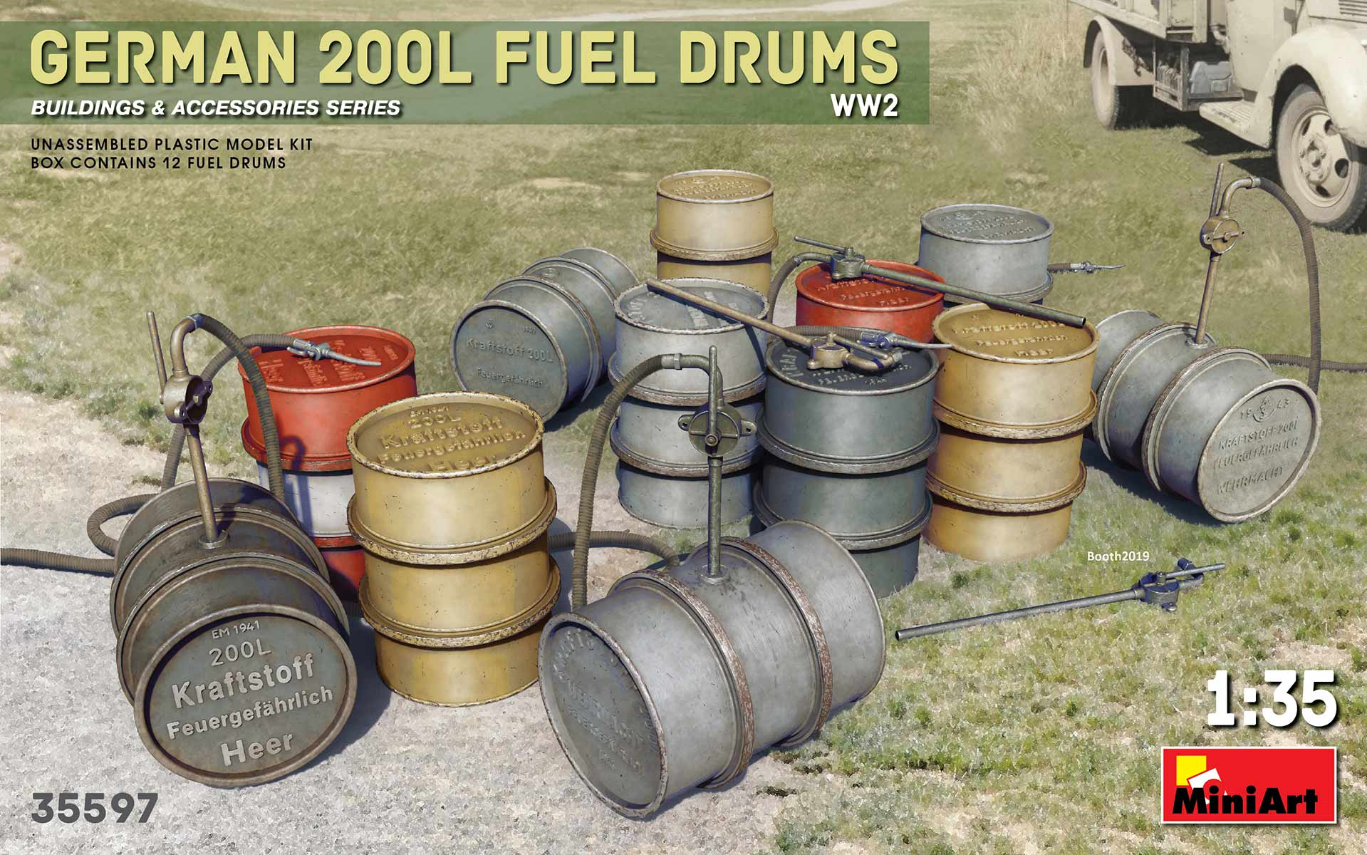German 200L Fuel Drum Set WWII - 1:35