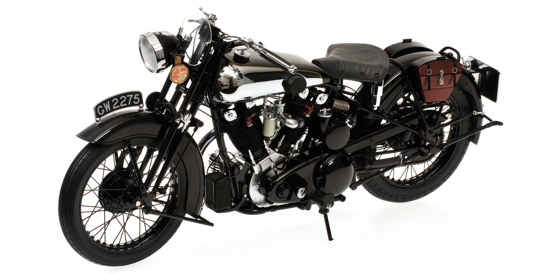 Brough Superior SS 100 T.E. Lawrence 1925 Zwart - 1:6