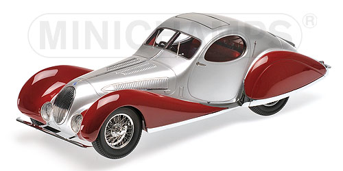 Talbot Lago T150-C-SS Coupe 1937 Zilver/Rood