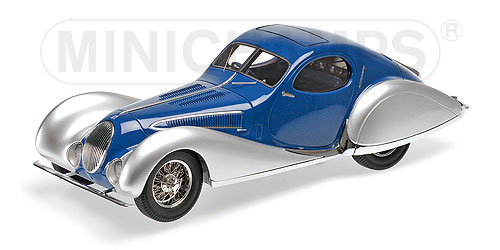 Talbot Lago T150-C-SS Coupe 1937 Blauw/Zilver