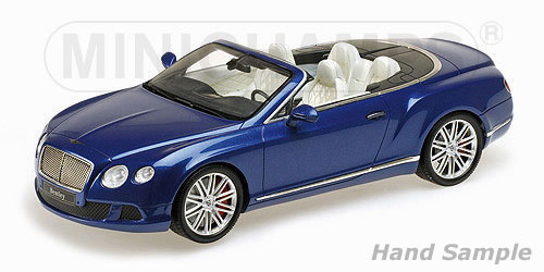 Bentley Continental GT Speed Convertible 2013 Blue