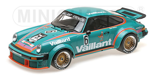 Porsche 934 Vaillant Team Kremer Racing Winner DRM Norisring 1976 B. Wollek
