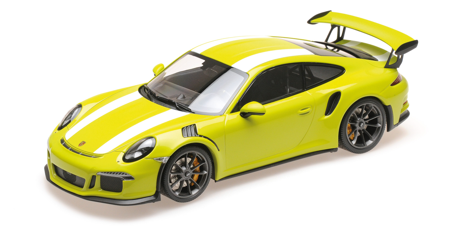 Porsche 911 GT3 RS 2015 Light Green w/ white stripes