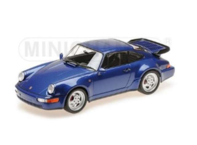 Porsche 911 (964) Turbo 1990 Blauw Metallic