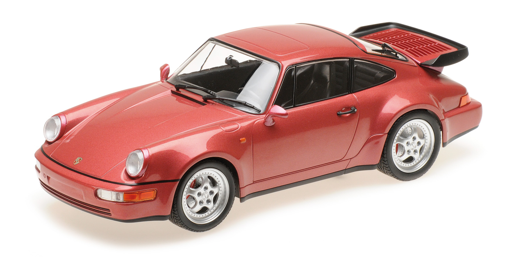 Porsche 911 (964) Turbo 1990 Rood Metallic