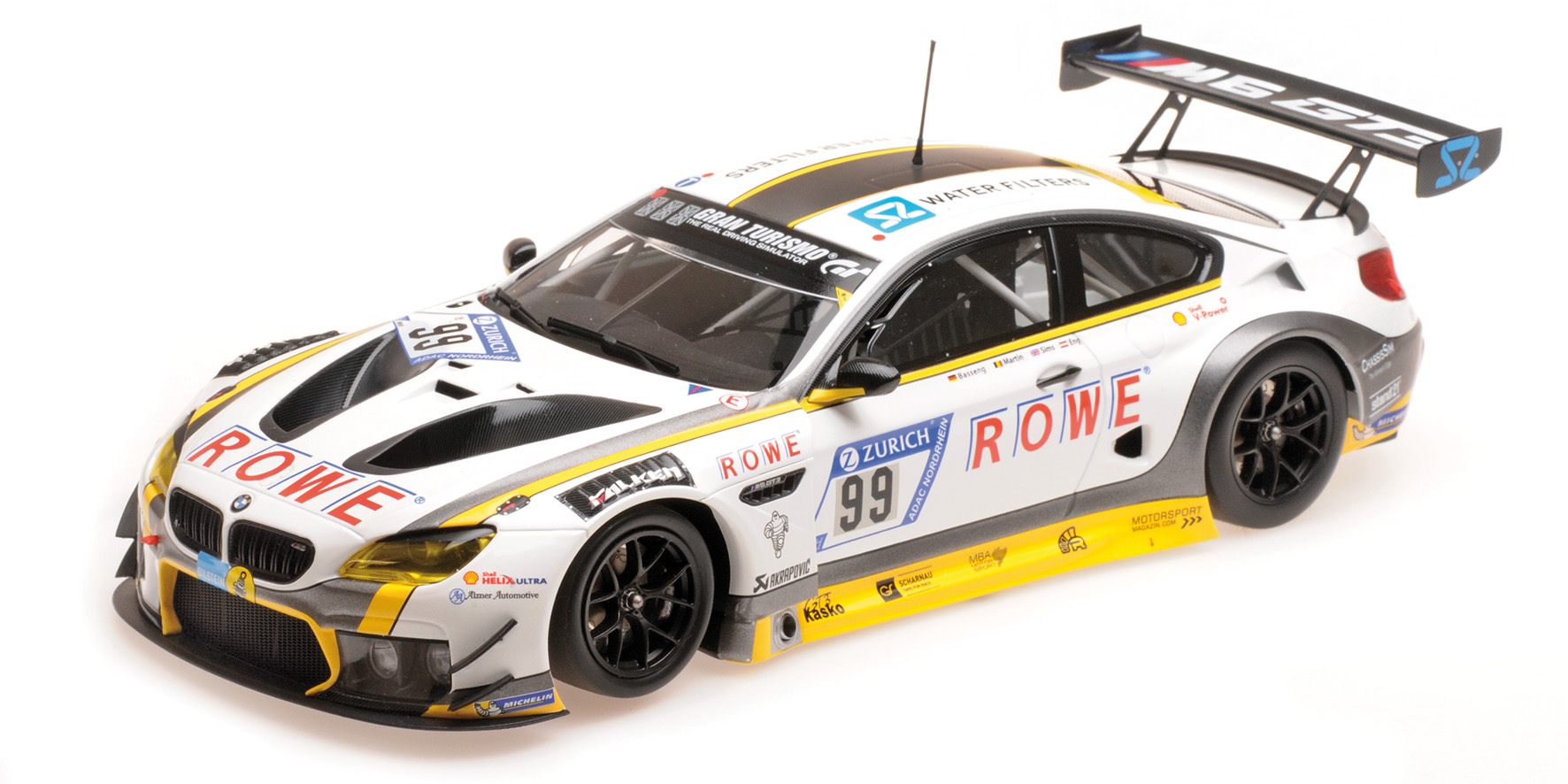 BMW M6 GT3 Rowe Racing 10th Place 24h Nurburgring 2017 Eng/Martin/Basseng