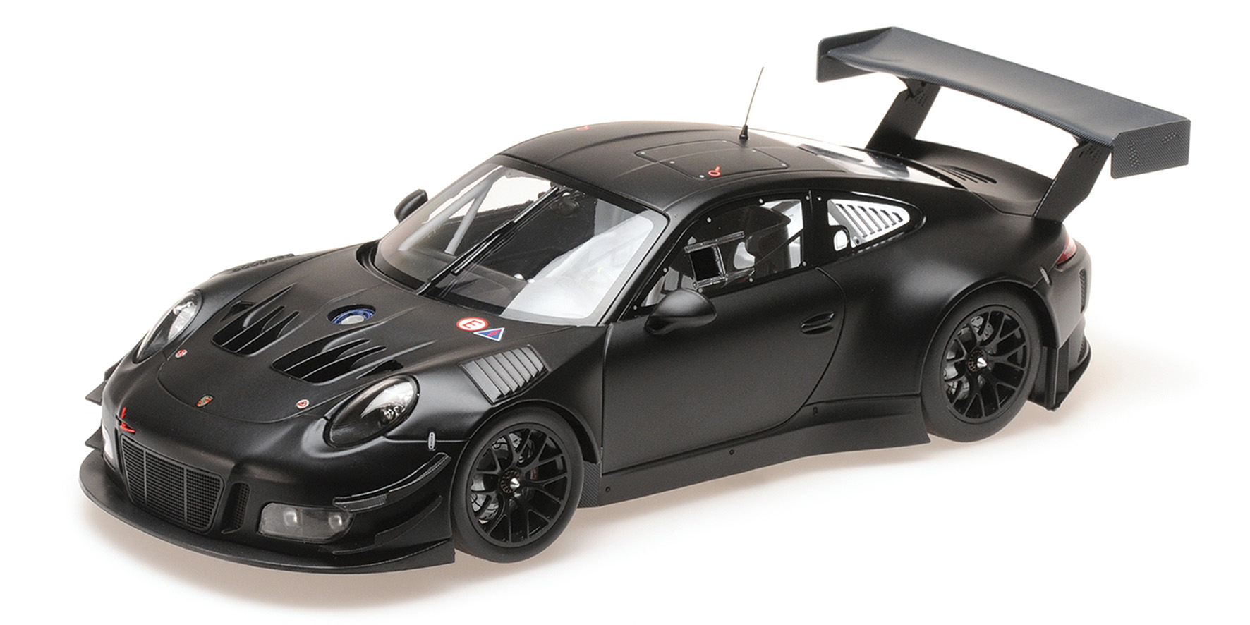 Porsche 911 GT3R Plainbody Version Mat Zwart