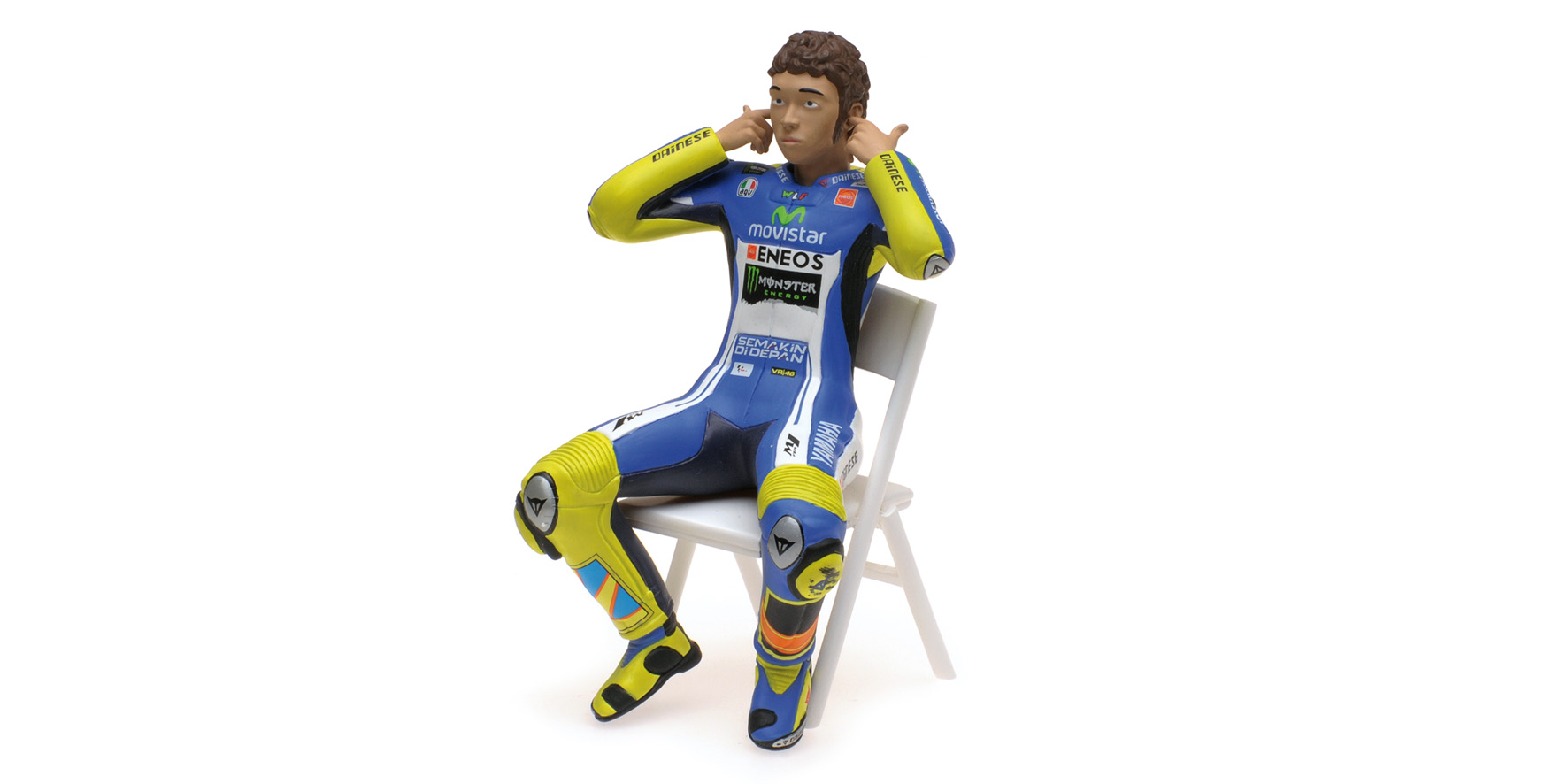 Figurine MotoGP 2014 V. Rossi - Checking The Ear Plugs