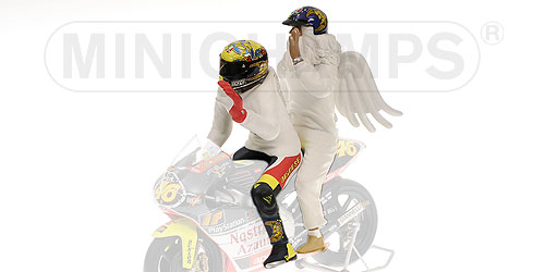 Figurine V. Rossi + Angel GP250 Rio 1999