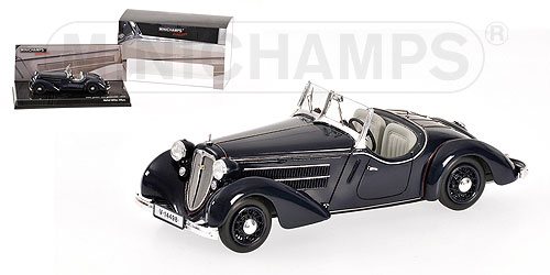 Audi Front 225 roadster donker blauw 1935