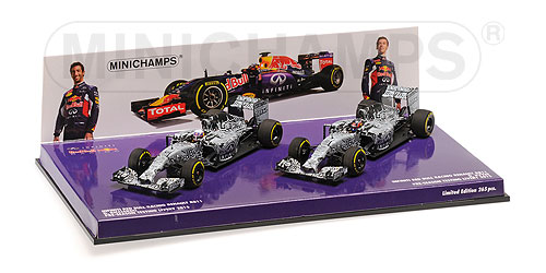 2-Car Set Infinity Red Bull Racing Renault RB11 Pre-Season 2015 Ricciardo/Kvyat