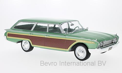 Ford Country Squire 1960 Groen met Hout