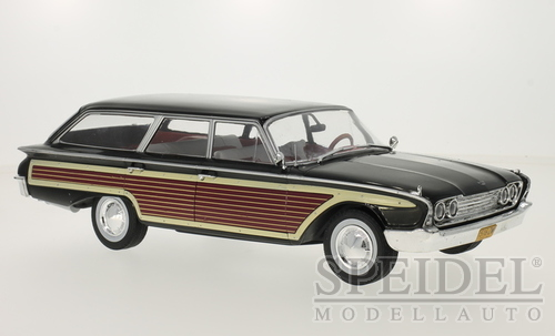 Ford Country Squire 1960 Zwart met Hout