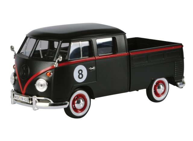 Volkswagen T1 Pick-Up Hot Rod 8-Ball Zwart/Rood