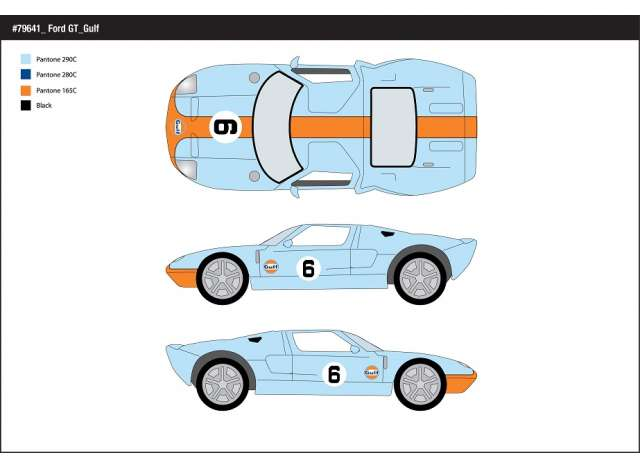 Ford GT No.6 - Gulf colours