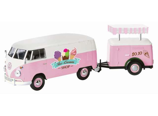 Volkswagen T2 Ice Cream Set - 1:24