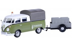 Volkswagen T2 Pick-Up + Trailer Road Maintenance Groen/Wit