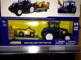 1:24 New Holland T7070 (+Sound) + Anhanger mit ATV