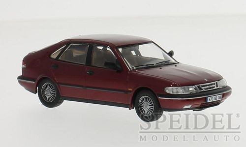 Saab 900 V6 1994 Donkerrood Metallic