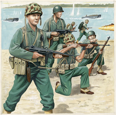 US-Marineinfanterie, WWII