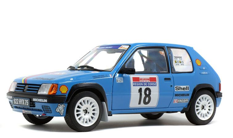 Peugeot 205 Rally PTS No.18 Vericel/Chollier - 1:18